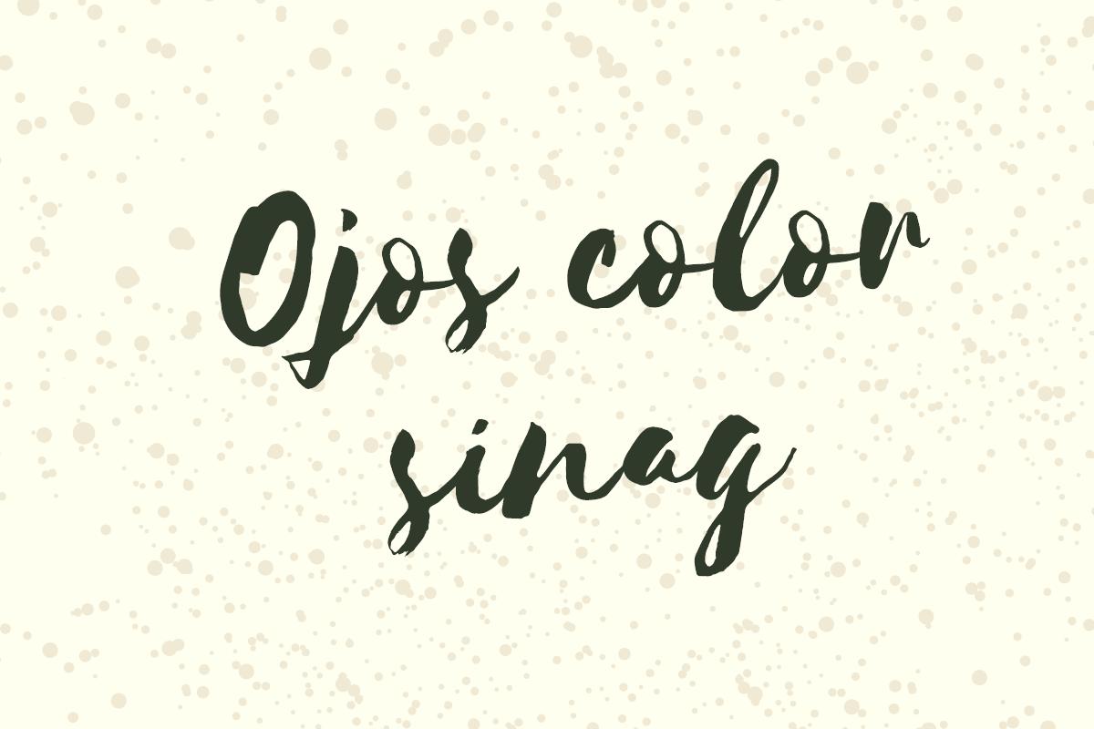 Ojos color sinag