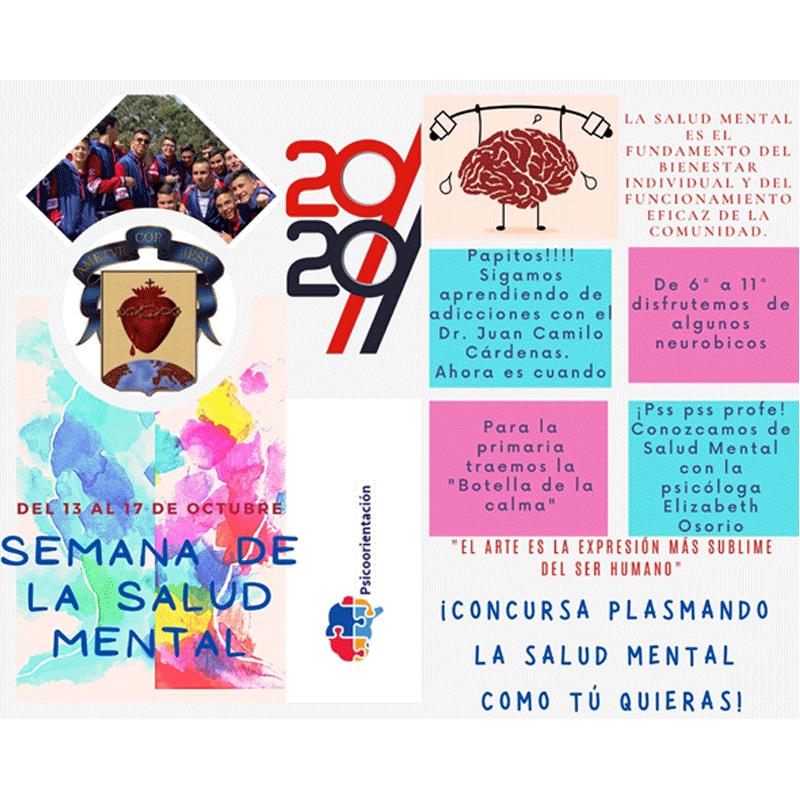 Programación  Semana de la salud mental Colegio Seminario Corazonista